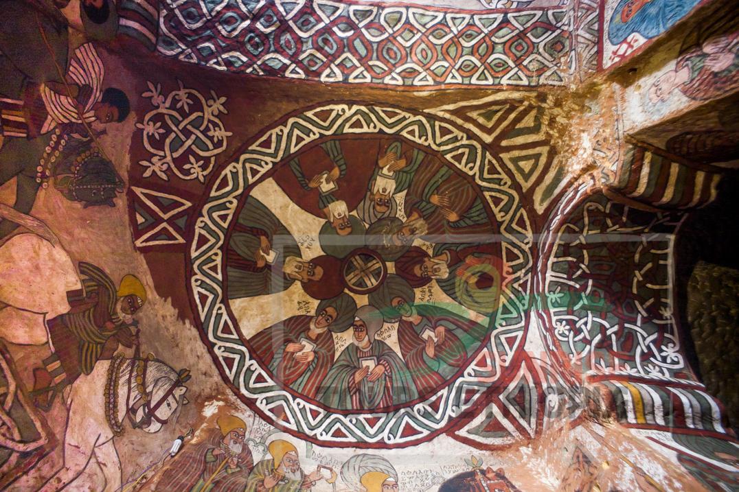 Gheralta Tigray church interior-abuna yemata