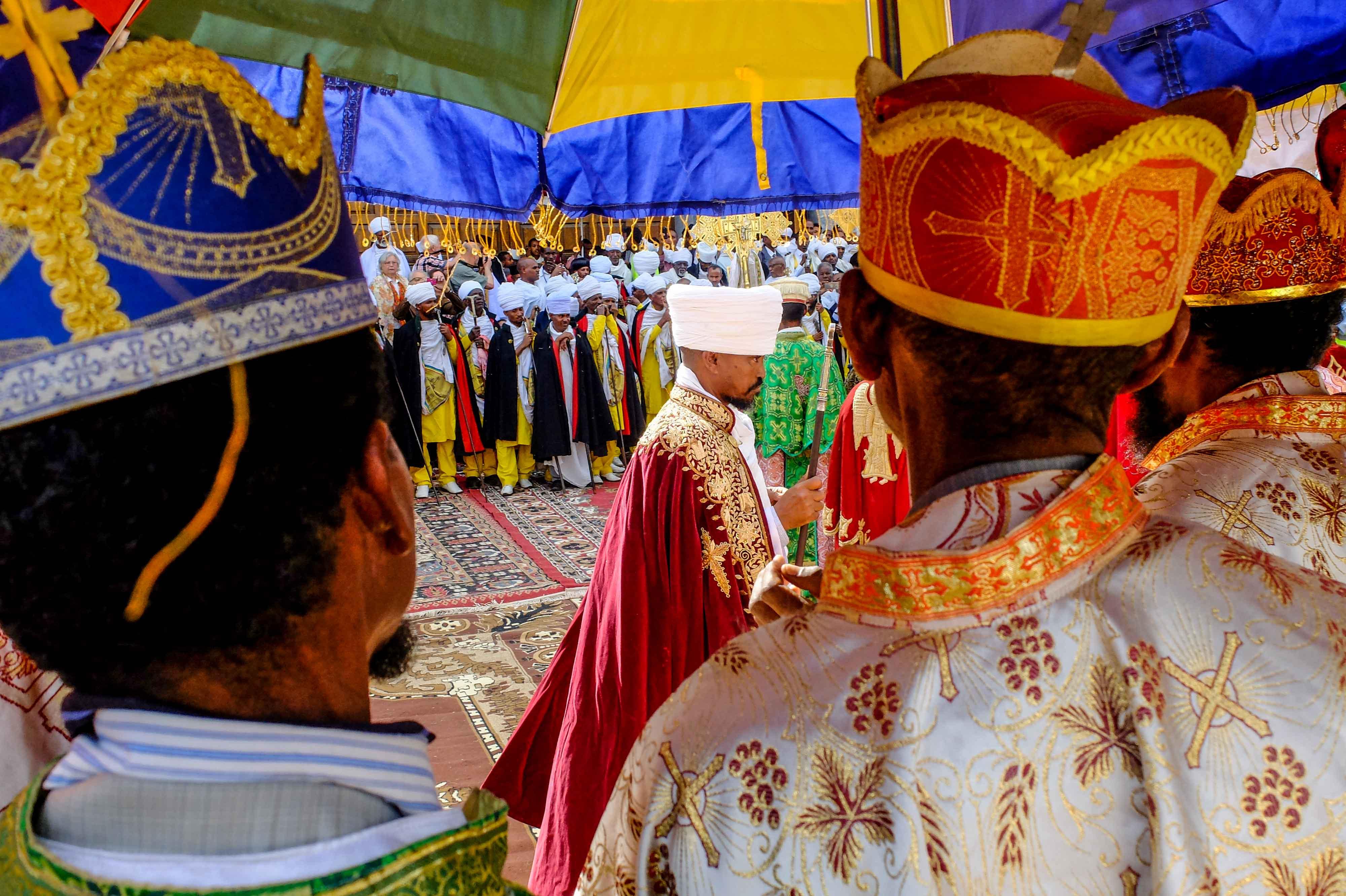 CELEBRATION ETHIOPIA orthodox church gondar meskel