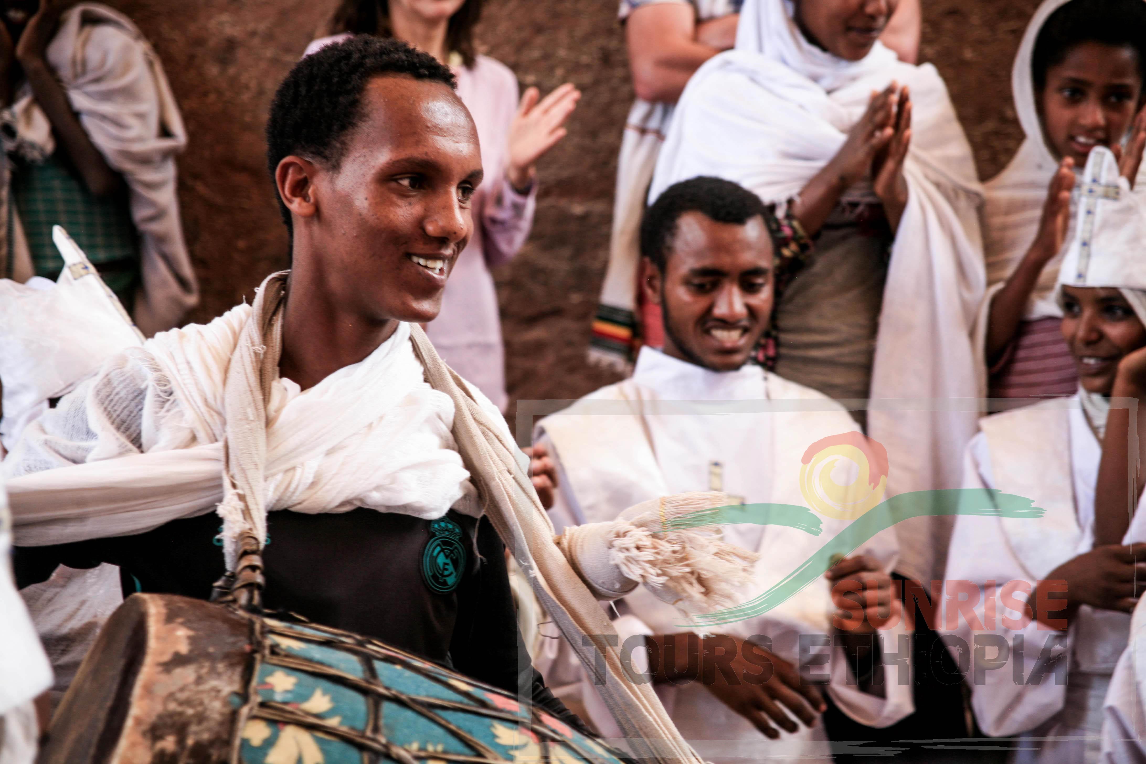 LALIBELA CELEBRATION SUNDAY SCHOOL DRUMMER ETHIOPIA