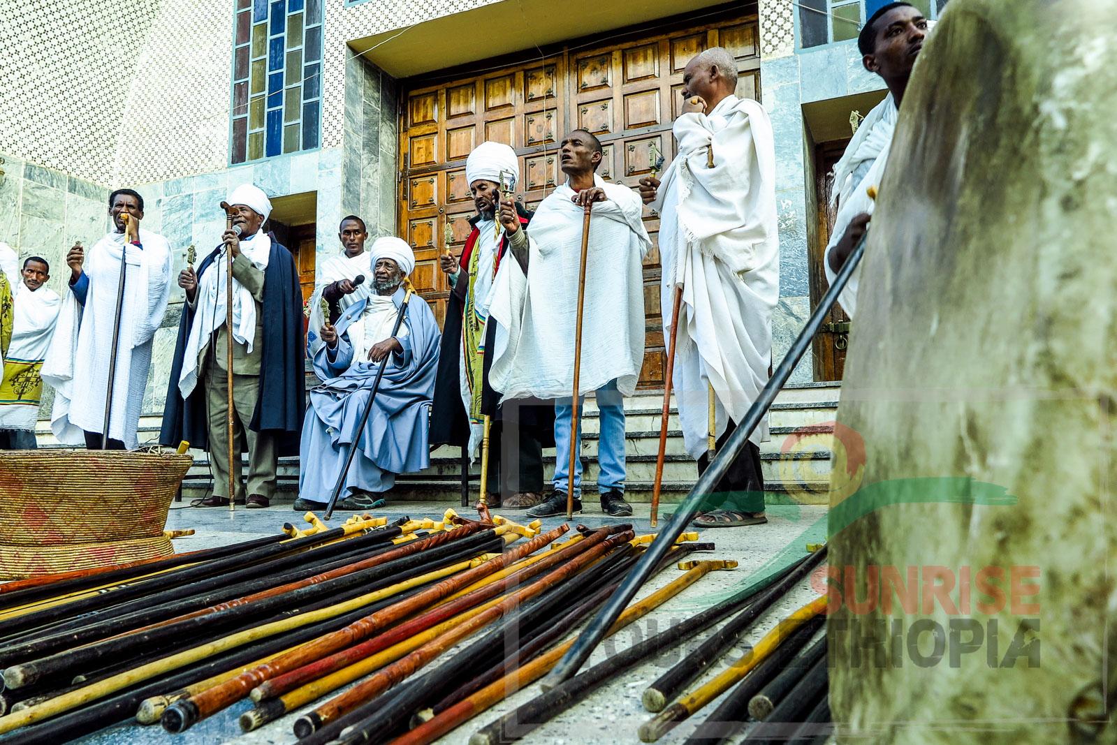 Aksum ortohdox church drums sticks