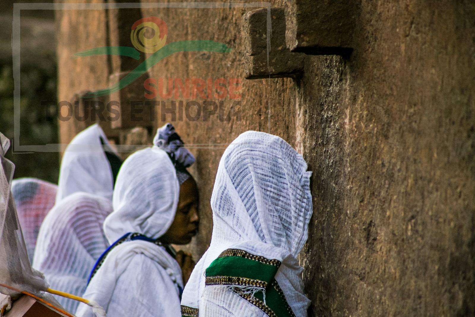 Lalibela fervent believers orthodox church ethiopia