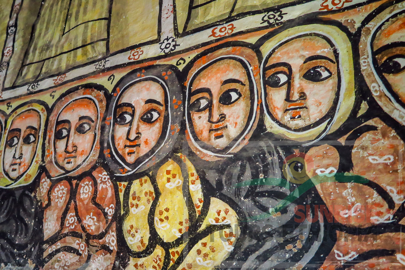 Mariyam Paaseyti church painting detail Gheralta Ethiopia