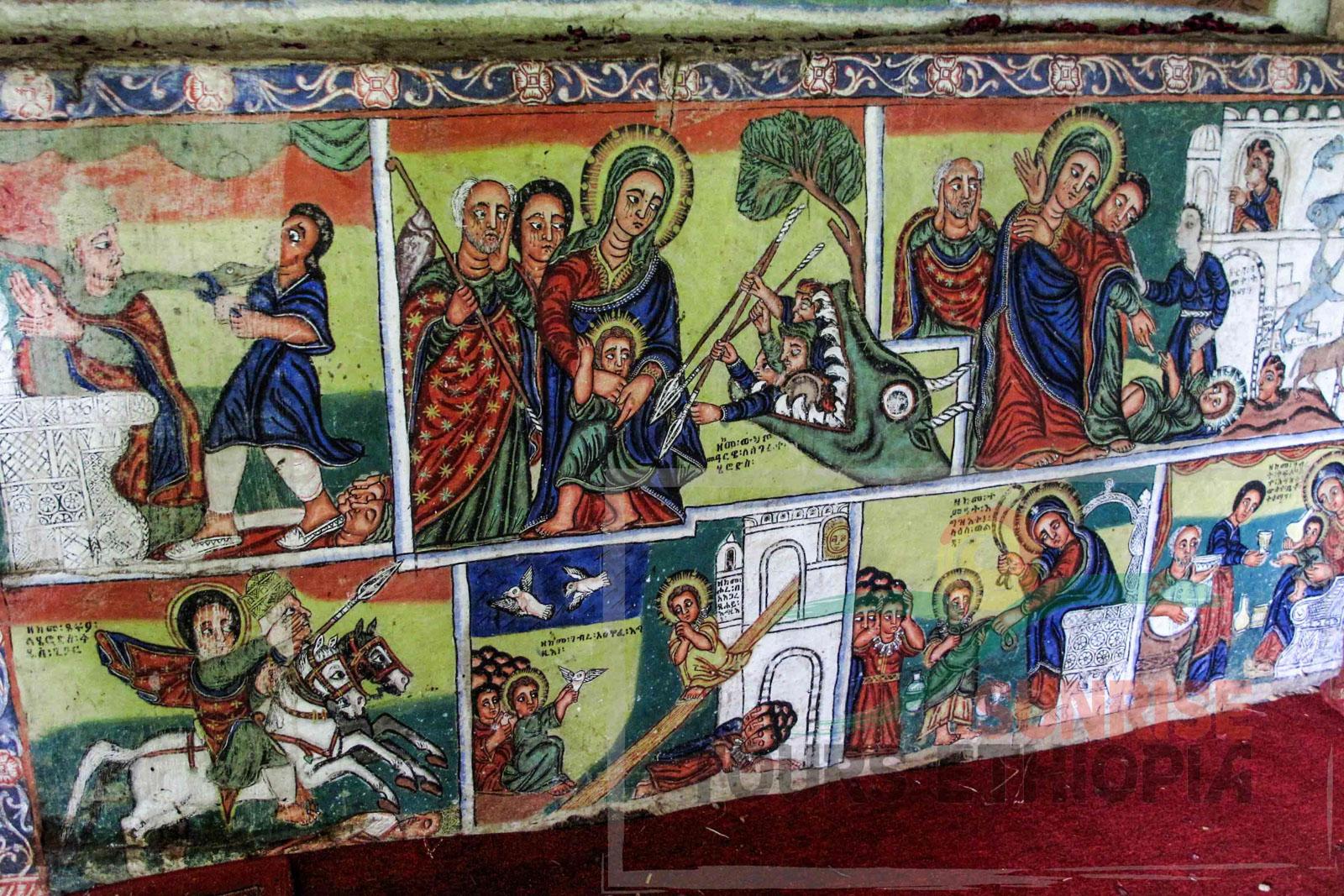 URA KIDANE MEHRET CHURCH PAINTING LAKE TANA