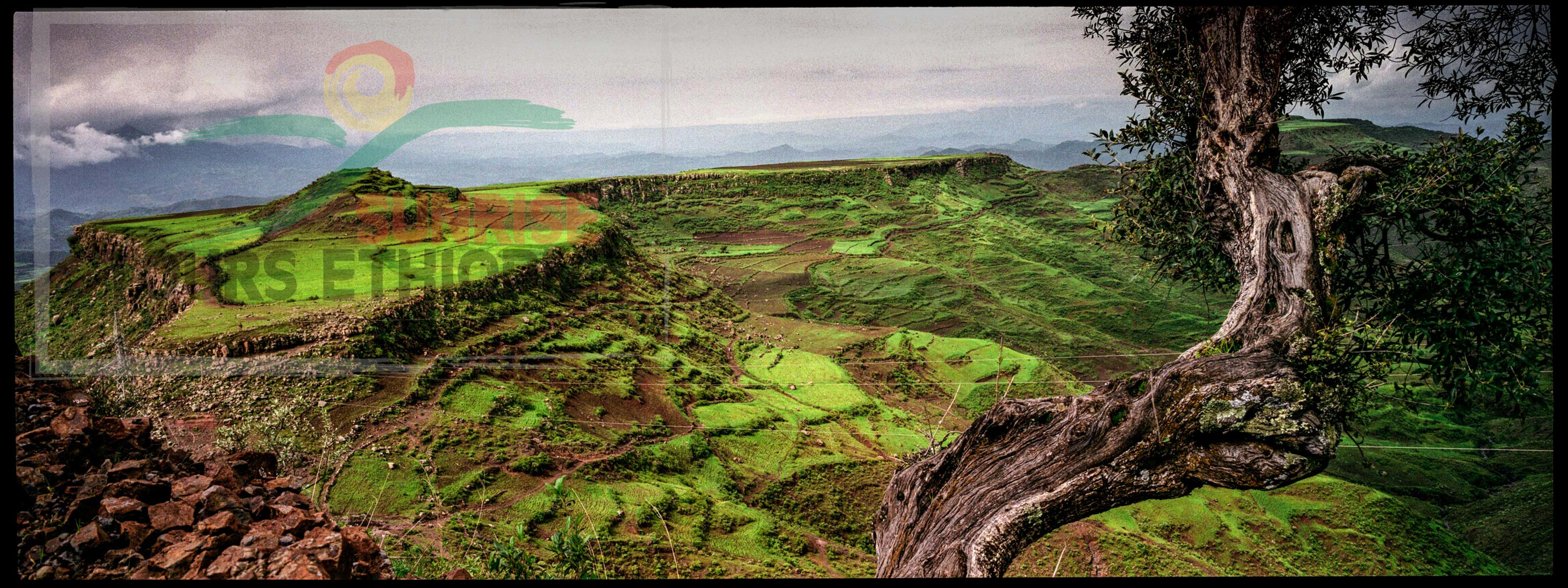 ETHIOPIA HIGHLANDS LANDSCAPE LALIBELA AMBA