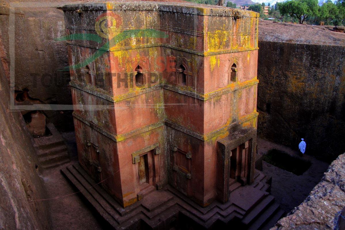 Saint george monolithc church in Lalibela ethiopia